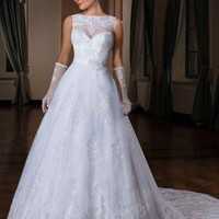 SZ347 Vestido De Noiva Romantic Organza and Tulle A-Line Wedding Dress Sexy Sleeveless Appliques Bride Gown Long Robe De Mariee