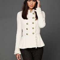 Free People Cableknit Peplum Jacket