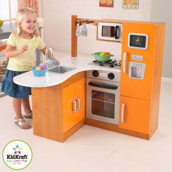 KidKraft Limited Edition Orange and Honey Kitchen 00192
