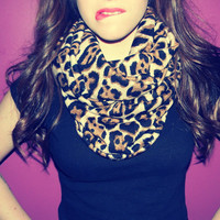 Cheetah Infinity Scarf by AllyJoyDesigns on Etsy