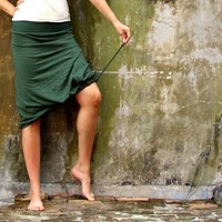 The Below Knee Drawstring Skirt (hemp/organic cotton)