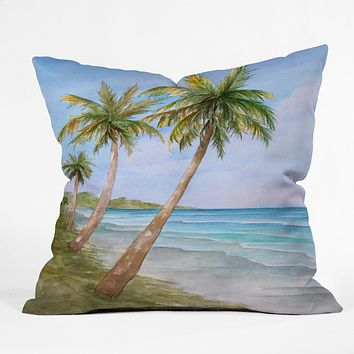 Rosie Brown Swaying Palms Throw Pillow