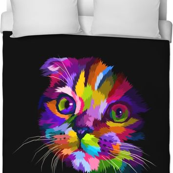 ROB In The Dark Kitty Duvet Cover