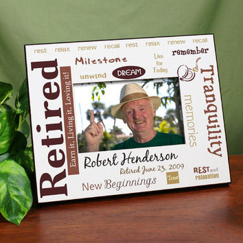 Retirement Personalized Printed Frame - Rest and Relaxation