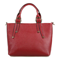 Lixmee leather geometric leather tote bag for women