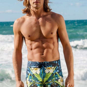 Sauvage Blue Hibiscus Surf Short
