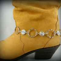 Boot Bracelet ~ Boot Bling ~ Bracelets for Boots ~ Multi-Link Boot Bracelet - Boot Jewelry - Silver Link Boot Chain