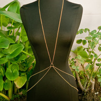 Gold Double Belly Circle Body Chain
