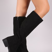 Bamboo Suede Classic Riding Knee High Boots