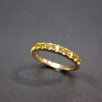 Yellow Sapphire Wedding Ring In 14K.. on Luulla