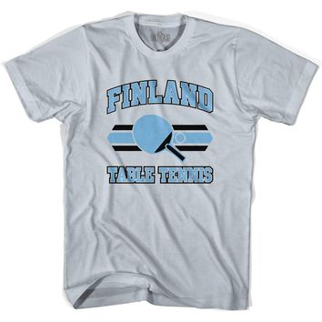Finland Table Tennis Adult Cotton T-Shirt