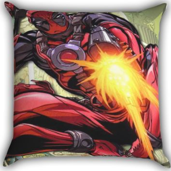 shoot cartoon collage Zippered Pillows  Covers 16x16, 18x18, 20x20 Inches