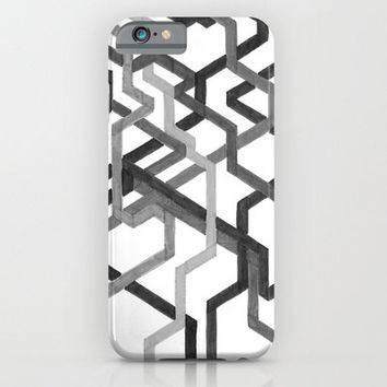 iPhone 6 Case - Black and White Metro