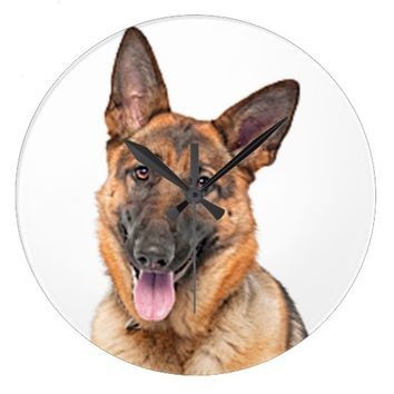 """German shepherd"" design wall clocks"