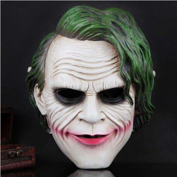 Quality Resin Batman The Joker Cosplay Face Masks ABS Halloween gift The Dark Knight  costumes Masks exquisite design
