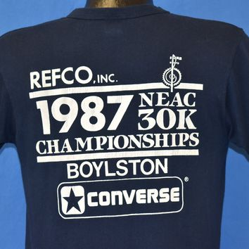 80s 1987 NEAC 30K Championships Boylston t-shirt Medium