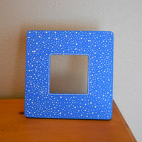 Painted Frame Blue Aboriginal Inspired Dot by Acires on Etsy