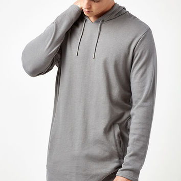 PacSun Brice Hooded Long Sleeve Extended Length Scallop T-Shirt at PacSun.com