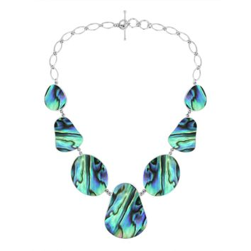 AN-1009-AB Sterling Silver Necklace With Abalone Shell