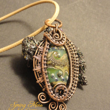 'Spring Moss' OOAK Wire Wrapped Handcrafted | The Wired Fox