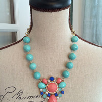 Bohemian Costume Statement Necklace - VERA -