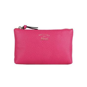 Gucci Women's Swing Blossom Pink Zip Pouch Small Cosmetic Bag  368880
