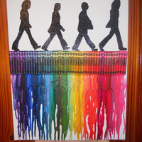 Beatles Melted Crayon Painting by OnceUponACrayon on Etsy