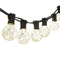 Cymas G40 Globe String Lights, 18.2Ft Indoor/Outdoor Decorative Lights 25 LED Bulbs
