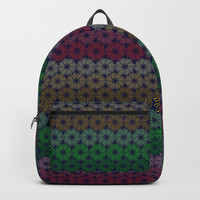 A pattern of composed colored fireworks. Backpack by albert12001