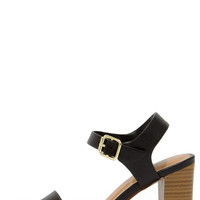 In Any Event Black High Heel Sandals