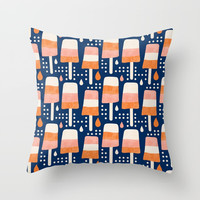 Creamsicle Throw Pillow by Heather Dutton