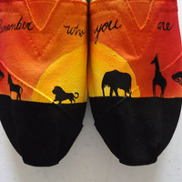Safari Sunset TOMS by LamaLand on Etsy