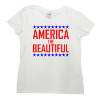 July 4th Shirt Fourth Of July T Shirt Patriotic Gifts USA TShirt America Shirt Memorial Day America The Beautiful Mens Ladies Tee - SA640