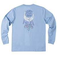 Moon Catcher Long Sleeve Tee Shirt in Grape Mist by The Southern Shirt Co. - FINAL SALE