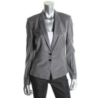 BOSS Hugo Boss Womens Jolia Wool Pattern Two-Button Blazer