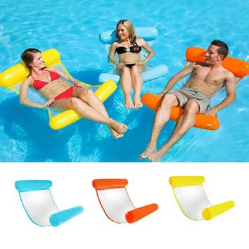 2018 New PVC Floating Water Leisure Hammock Float Lounger Swimming Pool Lounge Bed Chair Kids Adults Inflatable Floating Bed