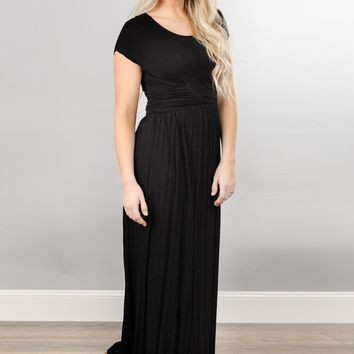 Ruched Maxi Dress - 3 colors