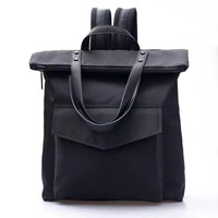Calvin klein CK black nylon Shoulder SchoolBag Satchel Handbag Backpack H-RELAX-XS