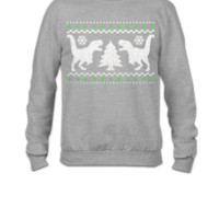 Funny Ugly Christmas T-Rex Sweater - Crewneck Sweatshirt