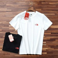 """""""The North Face"""" Unisex Sport Casual Red Box Letter Print Couple Short Sleeve T-shirt Top Tee"""