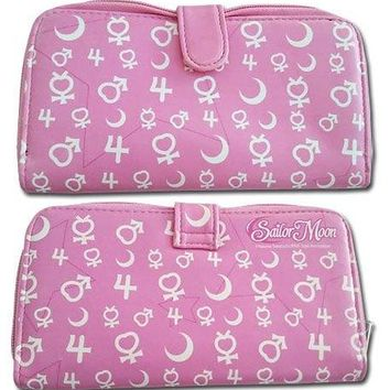 Sailor Moon Zip Wallet - Symbols
