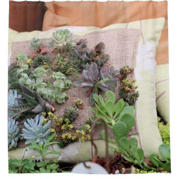 Creative gardening shower curtain