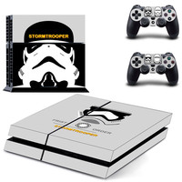 Star wars stormtrooper design skin for ps4 decal sticker console & controllers