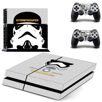 Video Game Accessories Star Wars Stormtrooper Playstation 4 Console Skin Vinyl Video Games & Consoles 2 Controller Stickers Cheap Sales 50%