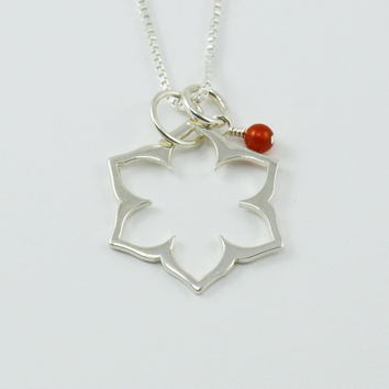 Sacral Chakra Necklace in Sterling Silver