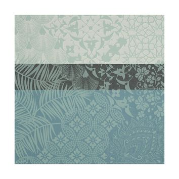 Autour Du Monde Placemats & Napkins in Grey