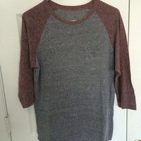 super soft raglan baseball 3/4 sleeve t shirt