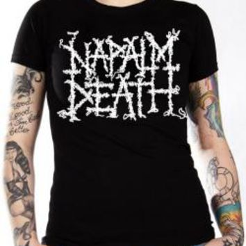 Napalm Death Girls T-Shirt - Logo