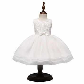 Vintage Baby Snow White Dress Beautiful Christening Gown First Birthday Outfits Baby Infant Party Costume Toddler Girl Clothes