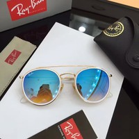 RayBan RB3647N Round Double Bridge Sunglasses